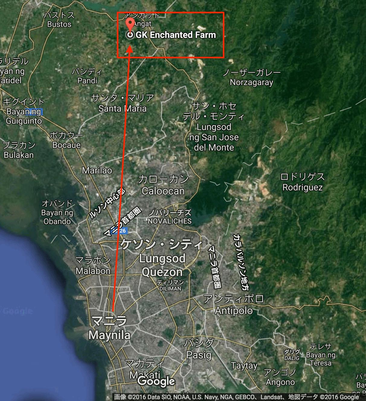 map manila to GK